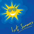 Vector Illustration Summer Sun
