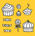 Vector illustration of sweet food collection