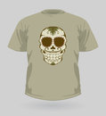 Vector illustration of t-shirt with Sugar Skull Royalty Free Stock Photos