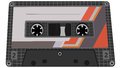 Vector illustration of tape cassette from recorder with label Stock Image