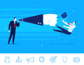 Vector illustration of teamwork businessman knockout flat design concept business situation sends a his opponent clipart icons Stock Images