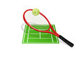 Vector illustration of tennis things Royalty Free Stock Images