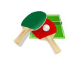 Vector illustration of tennis things Royalty Free Stock Image