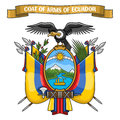 Vector illustration on theme Ecuadorian Coat of Arms Royalty Free Stock Photo