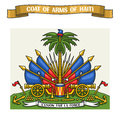 Vector illustration on theme Haitian Coat of Arms Royalty Free Stock Photo