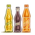 Vector illustration on the theme of the logo for carbonated drinks Royalty Free Stock Photo