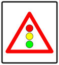 Vector illustration of traffic lights sign isolated on white background Royalty Free Stock Photo