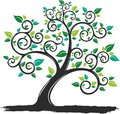 Vector Illustration silhouette Tree with Roots in white background