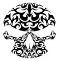 Vector illustration of tribal skull Royalty Free Stock Photos