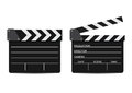 Vector illustration of two film clappers isolated on white Royalty Free Stock Photo