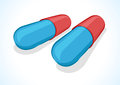 Vector illustration of two pills Stock Images