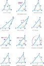 Vector illustration various triangle types commonly used schools mathematics Stock Image