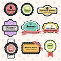 A vector illustration of vintage bakery label sets Stock Photo