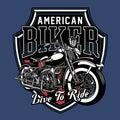 Vector Illustration of Vintage Motorcycle Emblem
