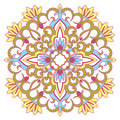 Vector illustration with vintage pattern for print embroidery Royalty Free Stock Photography