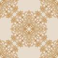 Vector illustration with vintage seamless pattern for print Royalty Free Stock Photo
