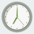 Vector illustration of wall clock in flat style Royalty Free Stock Image