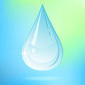 Vector illustration water drop colored background Stock Image
