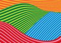 Vector illustration of wave curve background colorful Stock Photography
