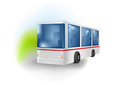 Vector illustration white bus Stock Photo
