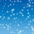 Vector Illustration of a Winter Background with Snowflakes Royalty Free Stock Photo