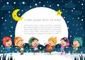 Vector Illustration Of Winter Scene Royalty Free Stock Photo
