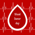 Vector illustration. World blood donor day June-14. Blood donation concept with drop. Global public health campaign by World Healt