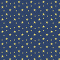 Vector illustration of yellow stars on dark blue background pattern Stock Images