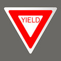 Vector illustration of a yield road sign