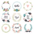 Set of cute hand-drawn Spring banners. Vector illustration.