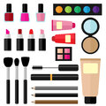 Vector illustrations of various cosmetic products