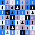 Vector illustrationseamless pattern silhouette alcohol bottle this is file of eps format Stock Images