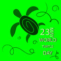 Vector illustrator for World Turtle Day2 Royalty Free Stock Photo