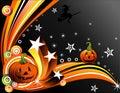 Vector a ilustração de Halloween Foto de Stock Royalty Free