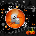 Vector a ilustração de Halloween Foto de Stock