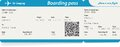 Vector image of airline boarding pass ticket Royalty Free Stock Photo