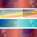 Vector image of the american flag as a background Stock Photography
