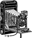 Vector image ancient camera past century Royalty Free Stock Photography