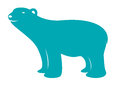 Vector image of an bear on white background Stock Photography