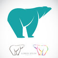 Vector image of an bear on white background Royalty Free Stock Images