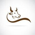 Vector image of an bull head Royalty Free Stock Photo