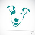 Vector image of a bull terrier on white background Royalty Free Stock Photo