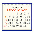 Vector image of a calendar for December Stock Images