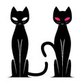 Vector image of an cat Royalty Free Stock Photos
