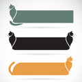 Vector image of an cat banners Royalty Free Stock Photo