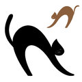 Vector image cat white background Royalty Free Stock Photography
