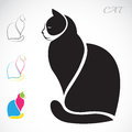 Vector image of an cat on white background Royalty Free Stock Photography