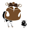 Vector image of an cow Stock Photography