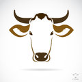 Vector image of an cow head on white background Royalty Free Stock Photography
