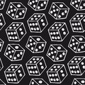 Vector image of dice Royalty Free Stock Photo